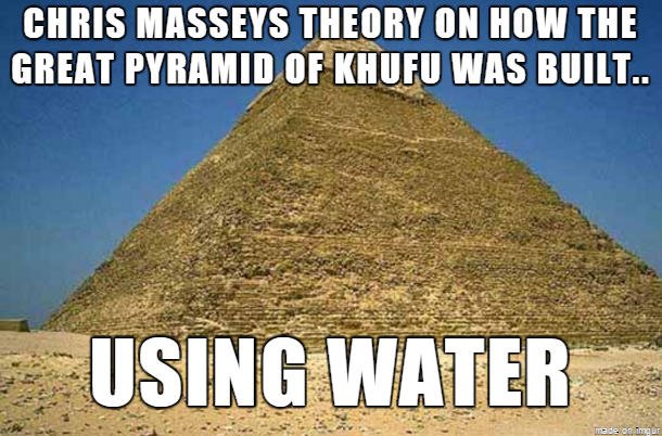 Chris Masseys Theory on how the Great Pyramid of Khufu was built