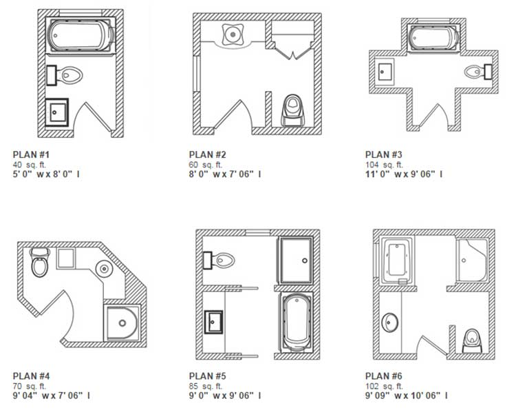 Small bathroom floor plans 5 x 6 for Bathroom layout