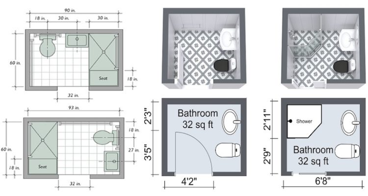 Small bathroom space arrangement creativity engineering feed Bathroom floor plans for small spaces