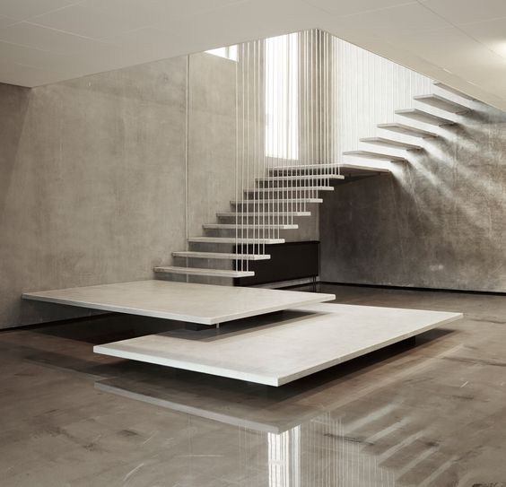 Staircase Decorating Ideas With Modern Design: Geometry In The Stair Designs