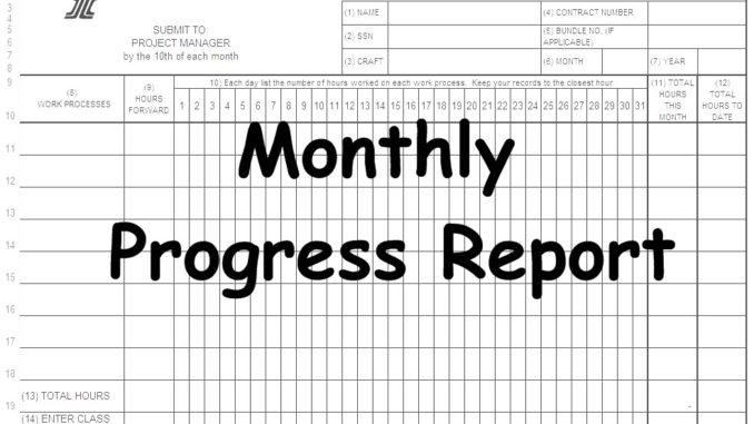 work progress report