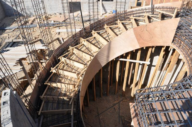 Those Stairs Needs More E For Having Natural Steps Up And Down Various Type Of Formwork Curved Concrete