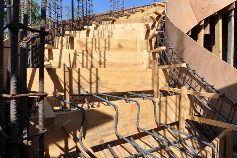 Various Type of Formwork for Curved Concrete Stairs