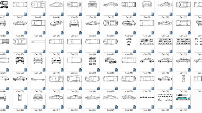 Attractive Collection Of Autocad 2d Blocks Free Download Car In Plan And Elevation  View CAD Blocks