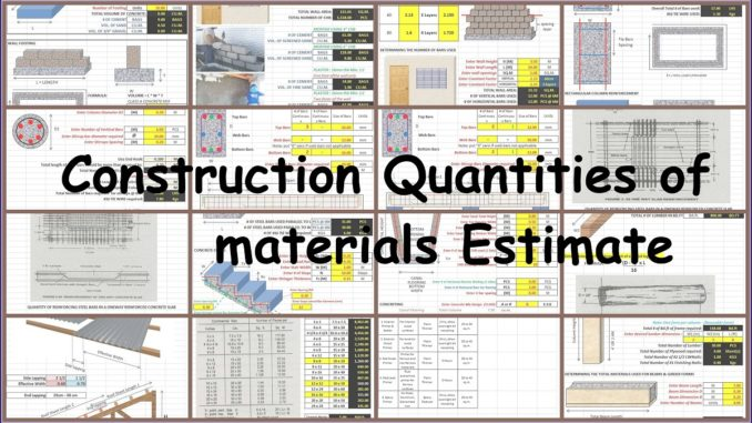 Materials archives engineering feed for Construction materials cost estimator