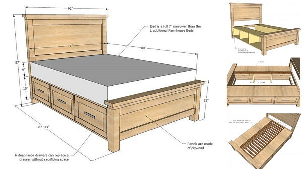 Handmade Bed With Storage Drawers Engineering Feed