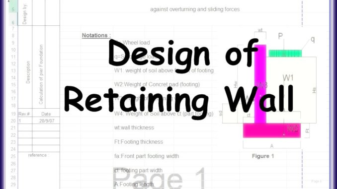 Design Of Retaining Wall Excel Sheet - Best Online Engineering