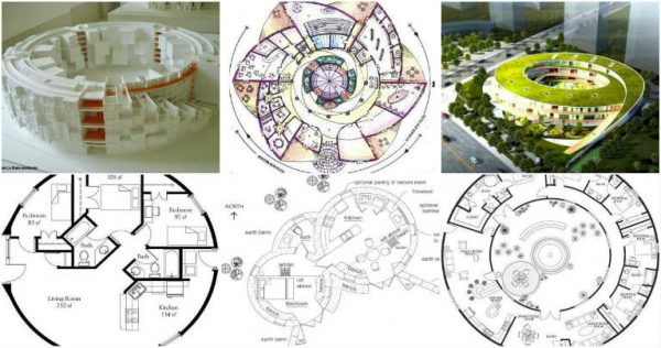 Circular Plans Of Different Types Buildings In The Word