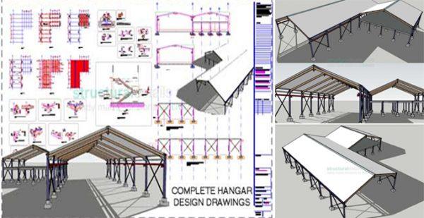 The Sample Of Steel Frame Hangar Free Download - Engineering Feed