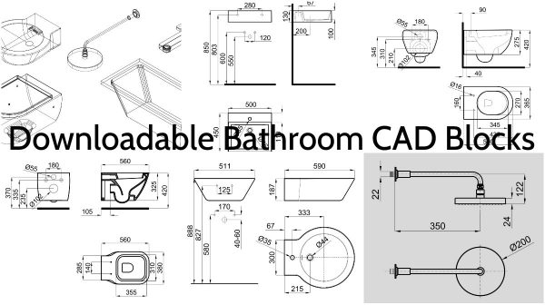 Sinks Toilets Shower Heads And Faucets Elements In Cad Downloadable Engineering Feed