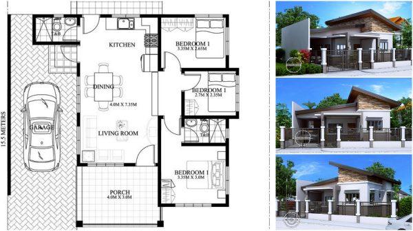 small house with excellent planning of the area for a