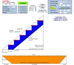 Stair calculator 1 600x530 engineering feed for House construction calculator