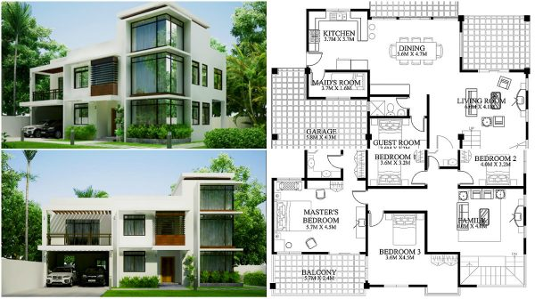 This Is A Lovely Example Of A House And A Home Plan That Would Answer The  Most Of The Family Needs And Even Make A Lovely Harmonial Home That Would  Be ...