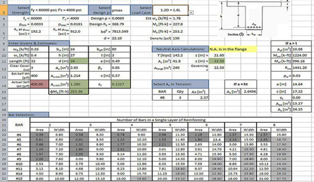 download and access concrete design excel sheets engineering feed