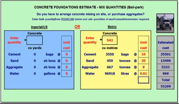 Concrete Mix Design Formula : Download concrete mix design spreadsheet engineering feed