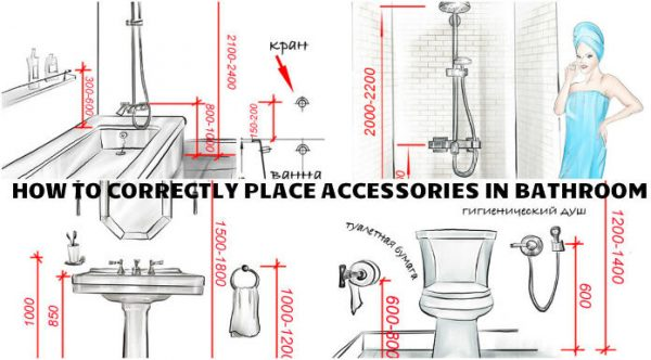 Correctly positioning accessories in your brand new for Best place for bathroom accessories