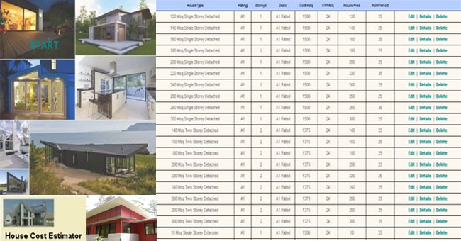 House building calculator calculate your eco house for House building budget calculator
