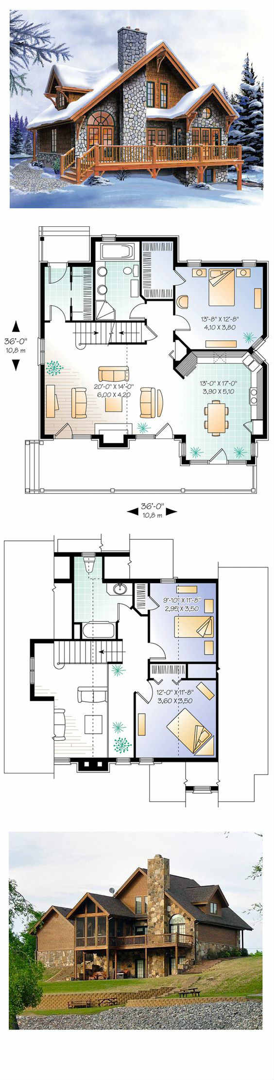 2 different 3d home elevations architecture house plans 4 for Different floor plans for house