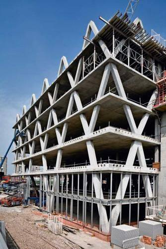 Masonry Building Framed : Precast lattice structure building and how it looks like