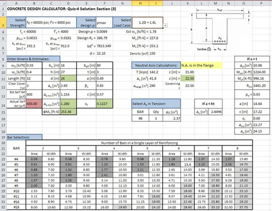 Excel Spreadsheet Design For Engineering Calculations Engineering Feed