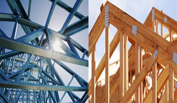 Differences between steel truss and wooden truss for I joist vs floor truss