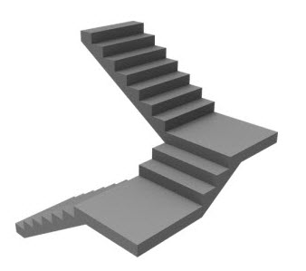 Different types of stairs and their uses engineering feed for Wood floor 90 degree turn