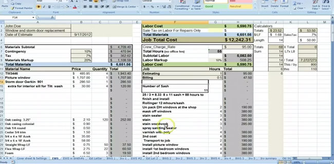 Material estimating sheet with excel for the general for Swimming pool design xls