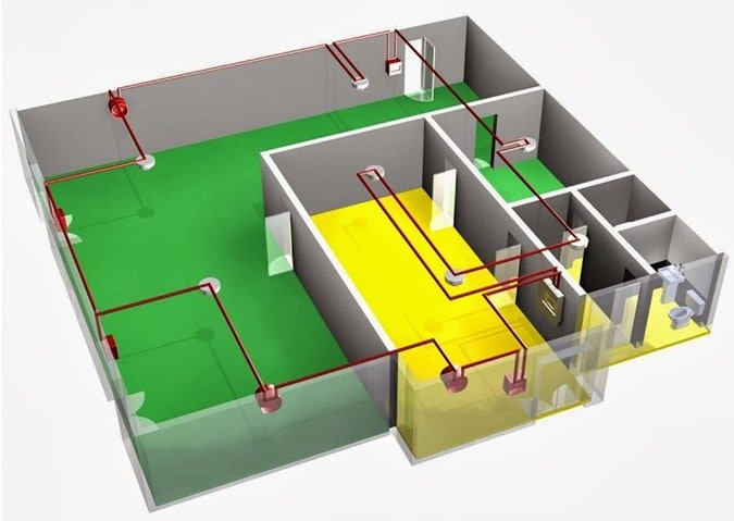 Fire safety and property protection systems for buildings