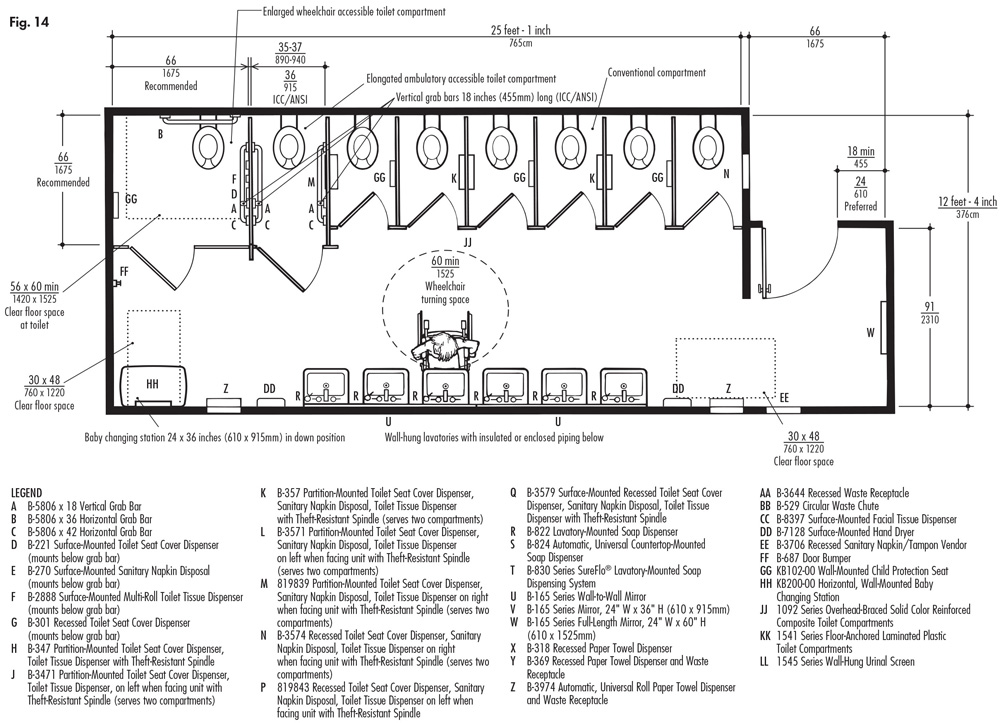 Accessories in public restrooms engineering feed for Public restroom design guidelines