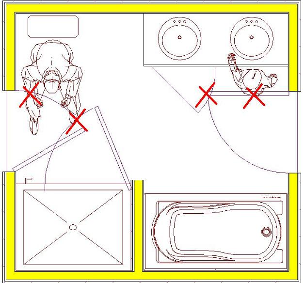 Ada Bathroom Door Swing Out bathroom design - engineering feed