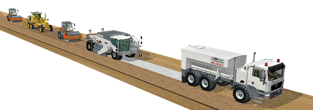 Cement stabilization on road bases engineering feed for Soil stabilization