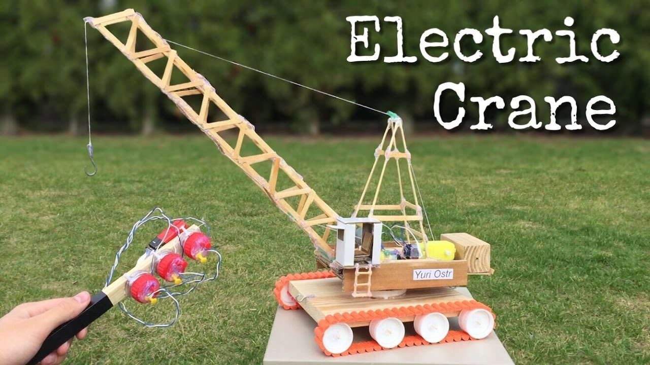 Hydraulic Arm Yuri Ostr : How to make an electric crane with remote control out of