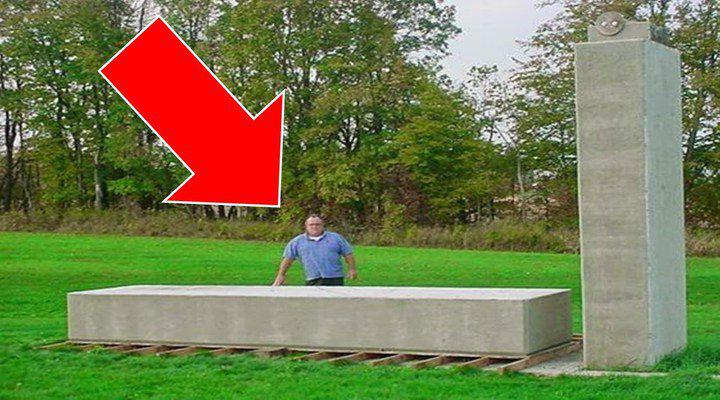 Extremely Large Stone Block : Watch this forgotten technology man lifts ton block by