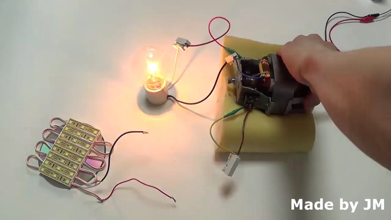 How To Turn A Universal Motor Into A Generator Self