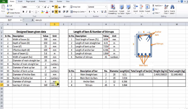 Calculate Steel Reinforcement And It S Quantity How To