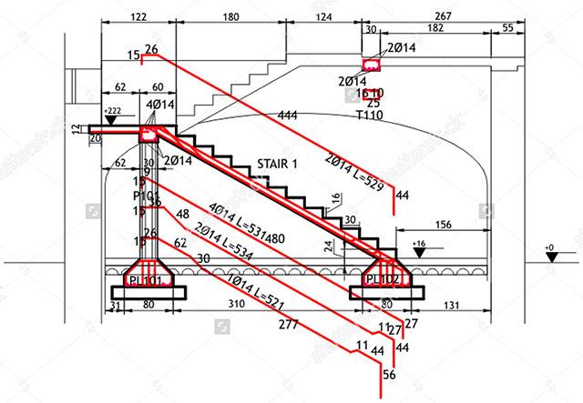 Reinforced Concrete Staircase Xls Reinforced Concrete