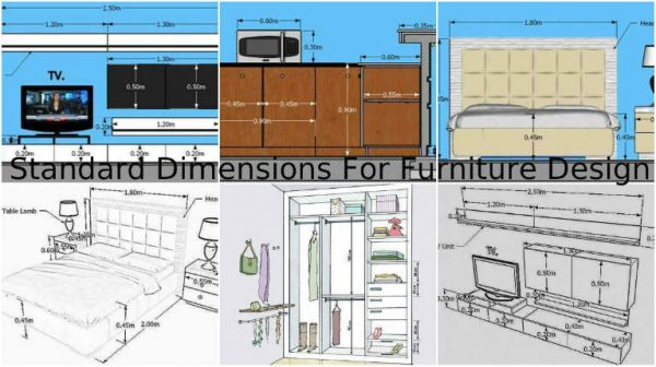Standard dimensions for furniture design in our homes for Standard blueprint size