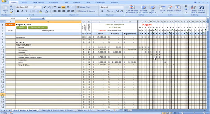 construction cost to calculate using excel engineering feed