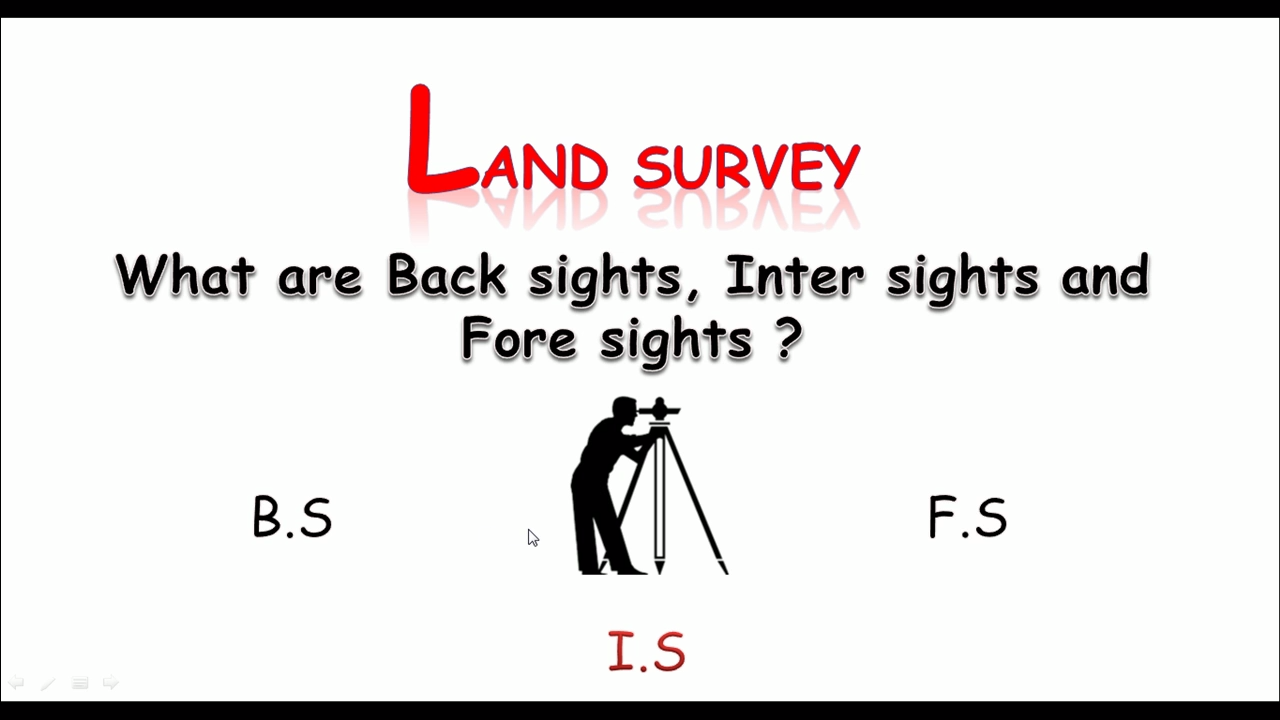 land survey   bs  is and fs in land survey