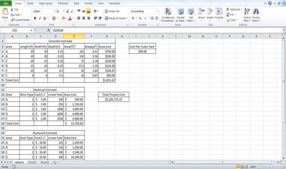concrete estimate template - estimating template building estimate format estimate