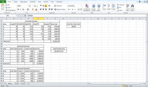 Estimating template building estimate format estimate for Concrete estimate template