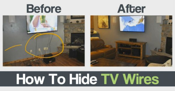 how to hide those ugly tv wires engineering feed. Black Bedroom Furniture Sets. Home Design Ideas