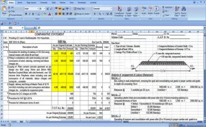 Download Excel Sheet To Estimate The Road Construction Costs