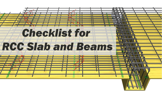 Checklist for RCC Slab and Beam - Engineering Feed