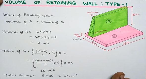 Volume Of Retaining Wall Engineering Feed