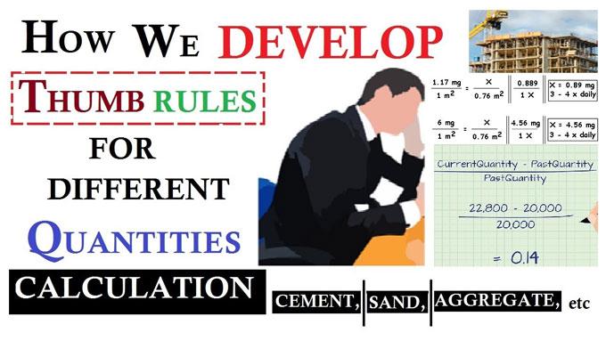 Thumb Rule Used In Civil Engineering - Engineering Feed